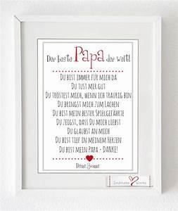 Danke Papa Text : digitaldruck kunstdruck der beste papa der welt ein designerst ck von soulmate works bei ~ Watch28wear.com Haus und Dekorationen