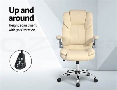 Chair Office Executive Leather Seating Premium Chairs