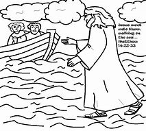 HD Wallpapers Bible Coloring Page Jesus Walks On Water