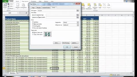 printing a large excel worksheet to multiple pages youtube
