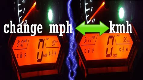 To Mph by How To Change Motorcycle Speedometer Mph To Km H Or Km H