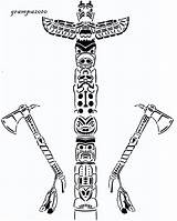 Totem Pole Coloring Pages Scroll Saw Pattern Totems Native Indian Poles Printable Drawing Colouring Village Cultural Adult User Adults Scrollsawvillage sketch template