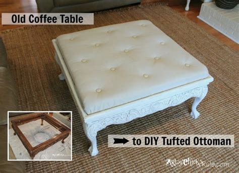 Make An Ottoman From A Coffee Table by How To Recondition An Ottoman Or Make A New One