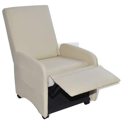 poltrona reclinabile poltrona pieghevole reclinabile in pelle artificiale crema