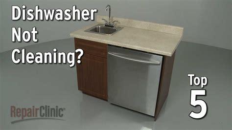Kitchenaid Dishwasher Leaking From Front Door by Dishwasher Won T Clean Dishwasher Troubleshooting