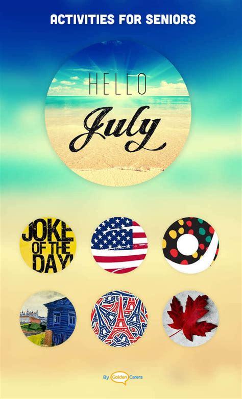 july  ideas activities calendar