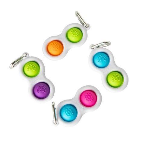 mini simple dimpl key chain bubble wrap pop fidget toy