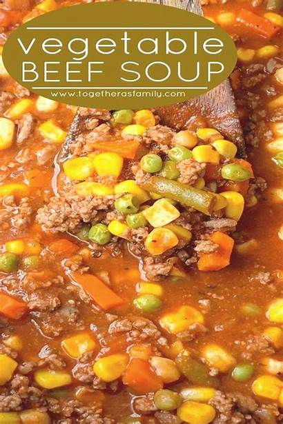Soup Beef Vegetable Recipes Recipe Pot Minute