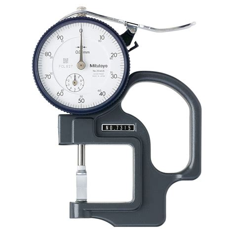 Mitutoyo 7315 Dial Thickness Gauge 010mm  All Metrology