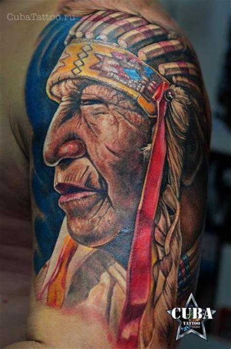 shoulder indian tattoo  cuba tattoo