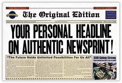 Fake Own Newspaper Missing Headlines Create Order