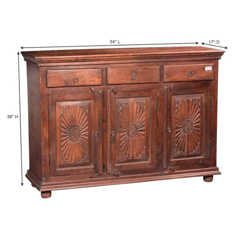 Sideboard Buffet Cabinet by Traditional Sunburst Reclaimed Wood 3 Drawer Sideboard Cabinet
