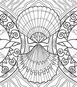 Coloring Pages Seashell Sea Adult Shells Marine Seashells Amazing Patterns sketch template