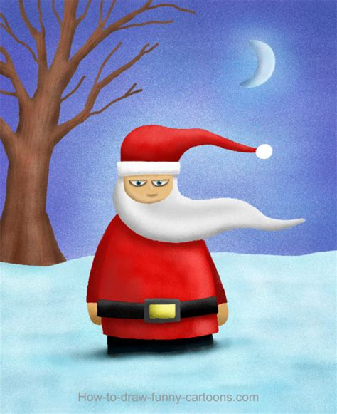 santa drawing cartoon painting