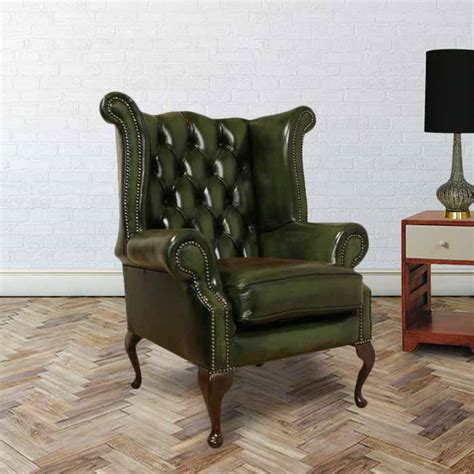 back chair uk green chesterfield wing chair designersofas4u