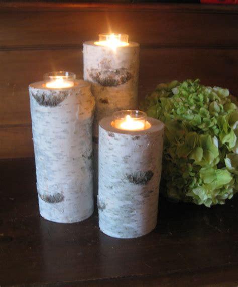 birch candle holders 3 birch bark votive candle holders 1086 by birchhousemarket