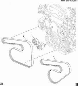 2015 Chevrolet Cruze Belt  Drive  Belt  W  Pmp  U0026 A  C Cmpr