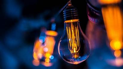 Bulb Electricity Lighting Laptop Close Tablet
