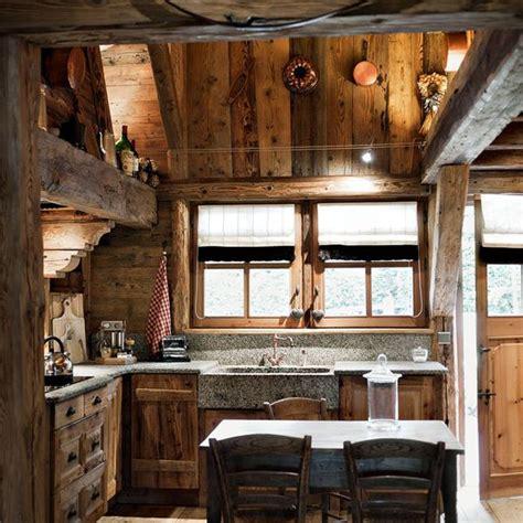 stone sink. raw wood. | Log cabin interior, Cabin interior ...