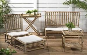 Salon De Jardin Bambou : le mobilier de jardin en bambou mobilier de jardin ~ Teatrodelosmanantiales.com Idées de Décoration