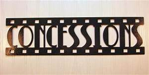 Metal Wall Art Home Theater Decor Concessions Film eBay
