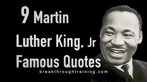 martin luther king famous quotes breakthrough youtube