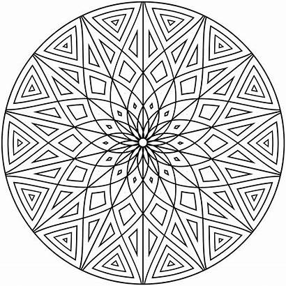 Diamond Shape Coloring Drawing Geometric Mandala Simple
