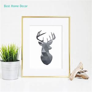 Aliexpress buy black deer head print antlers