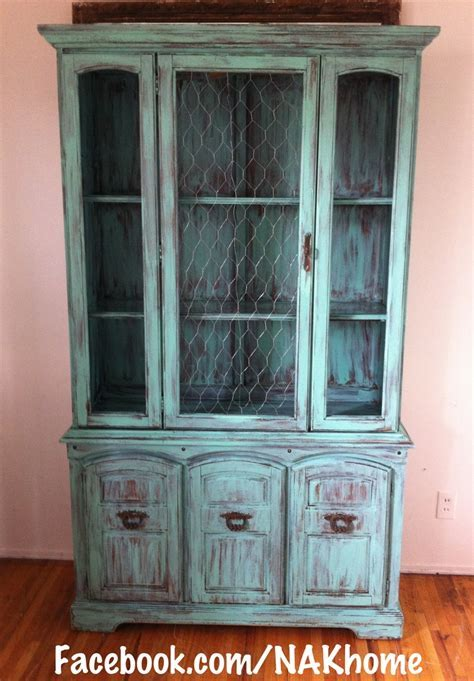 Furniture makeover: Old hutch with broken glass door