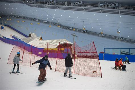ski en salle 28 images en chine dans le plus grand parc de ski en salle du monde l obs en