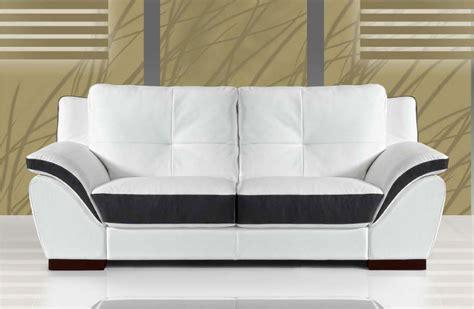 fabricant canap italien canape 2 places cuir blanc et noir sofamobili