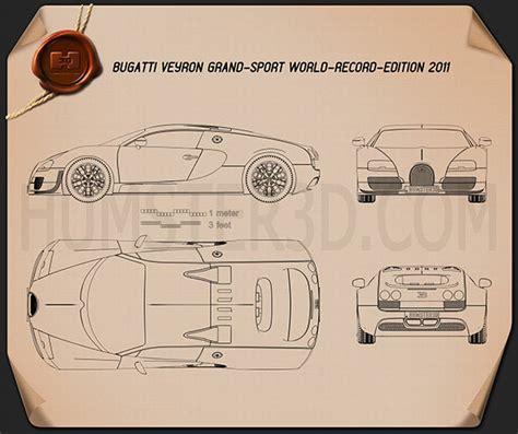 Bugatti Veyron Blueprint by Bugatti Veyron Grand Sport World Record Edition 2011
