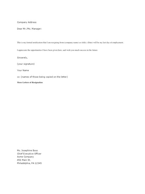 Resignation Letter | Business | Personal Growth | Free 30-day Trial | Scribd