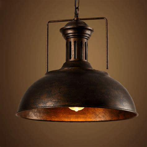 edison vintage industrial l shade chain pendant light