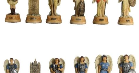 Arch Angel Theme Chess Pieces - Hand Painted | ANTIQUE ...