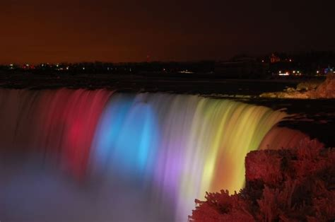 niagara falls lights on travel america