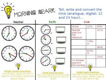 Morning Maths Activities  Year 34 (fully Editable) By Spark Resources