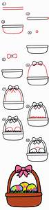 How To Draw An Easter Basket - Art For Kids Hub
