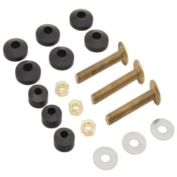 Kohler® Toilet Tank Bolts And Gaskets Solid Brass Nuts And
