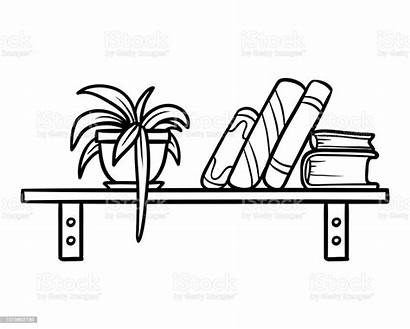 Bookshelf Coloring Cartoon Russia