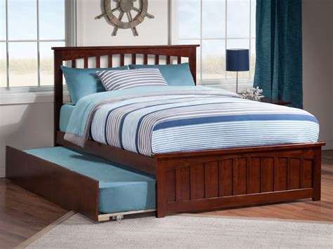 Mission Matching Footboard Trundle Bed
