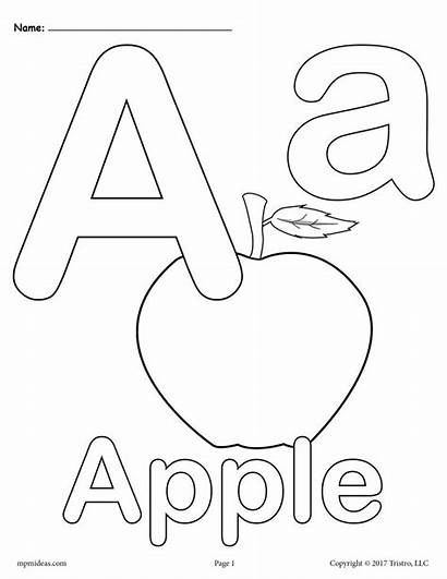 Coloring Letter Alphabet Printable Lower Upper Versions