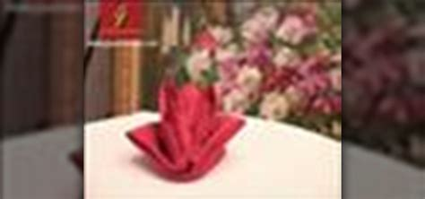 how to fold a napkin into a flower pliage fleur de lys 171 table preparation