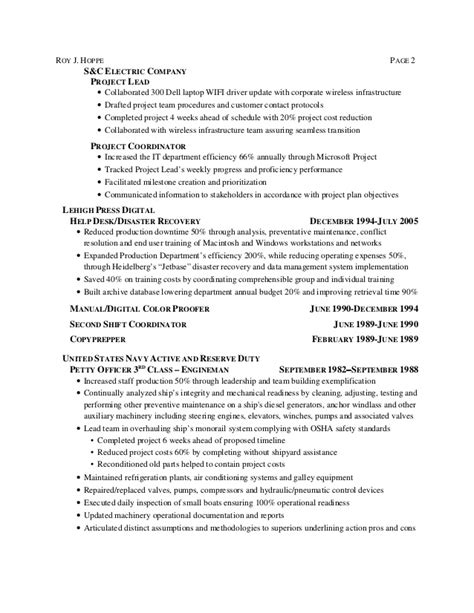 Non Technical Business Analyst Resume by Roy Hoppe It Business Analyst Resume 60601