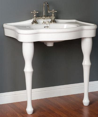 Classic Bathroom Sinks by Lavatory Consoles Style 2 Legged Bathroom Sinks