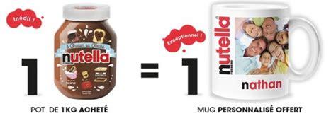 personnalisation pot de nutella nutella 1 pot de 1 kg achet 233 1 mug offert