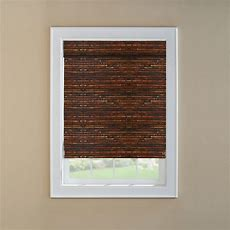 Levolor Mahogany Light Filtering Woven Wood Roman Shade