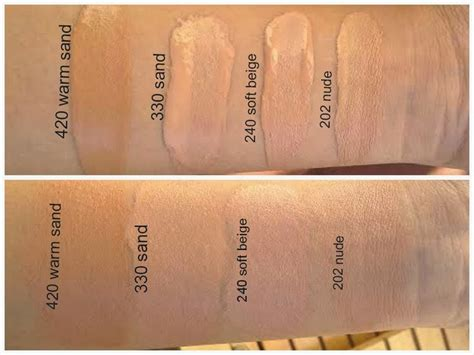 rimmel match perfection foundation swatches  warm sand sand soft beige  nude makeup