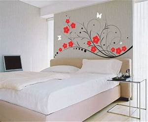 home design exciting bedroom wall decor cool design with With simple bed room wall decoration