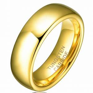 Hot sale in brazil 6mm 18k yellow gold plated tungsten for Tungsten wedding ring reviews